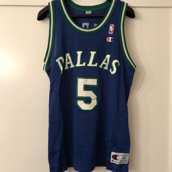 buy popular 424d0 1afa0 Champion Dallas Mavericks Jason Kidd Jersey